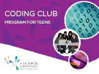 Coding Club for Teens at Arapahoe Libraries