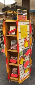 Banned Books Display at Kelver Library.