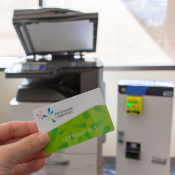 library card and copier